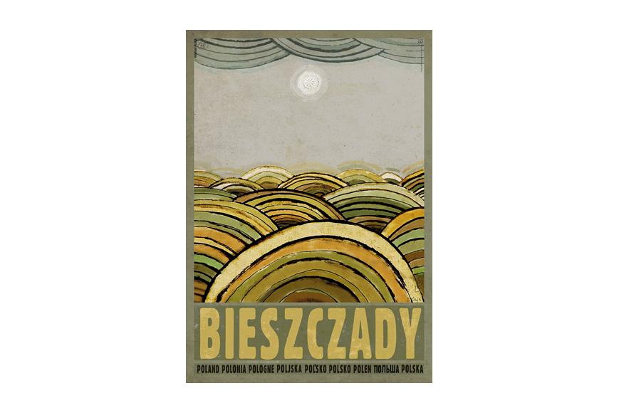 Plakat Bieszczady Ryszard Kaja